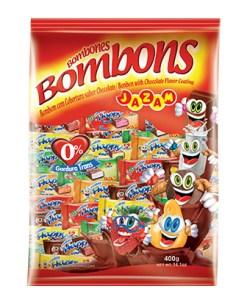 Bombom Happy End Sortidos 400g contendo 50 unidades de 8g - Jazan