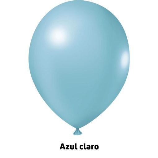 Balão Joy Redondo n°5 Azul Claro