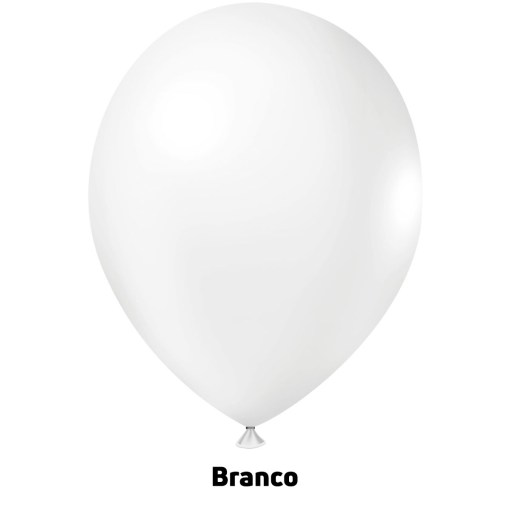Balão Joy Redondo n°5 Branco