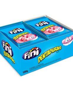 Mini Dentaduras com 12 pacotes de 15g cada - Fini - Com 12 unidades de 15g cada