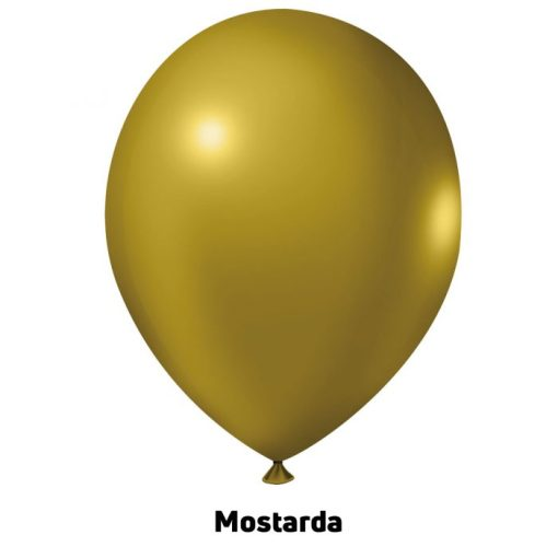 Balão Joy Redondo n°5 Mostarda