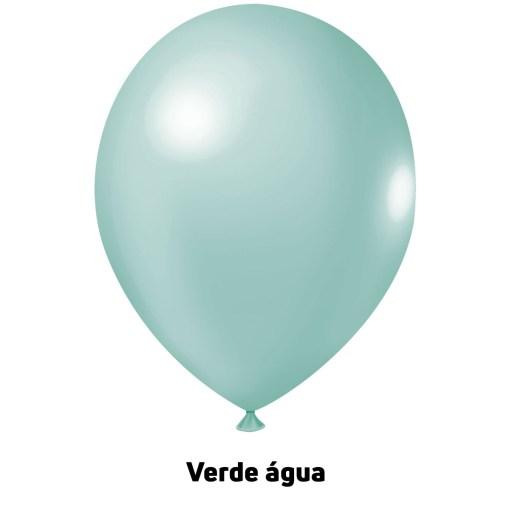 Balão Joy Redondo n°5 Verde Aguá