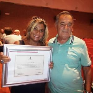 Gianfranco con la figlia Marina Rita.