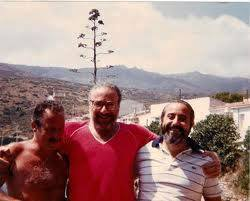 Paolo Borsellino - Claudio Lo Curto - Giovanni Falcone all'Asinara (foto di repertorio hendel)