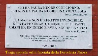 targa Foresteria Nuova (foto hendel)