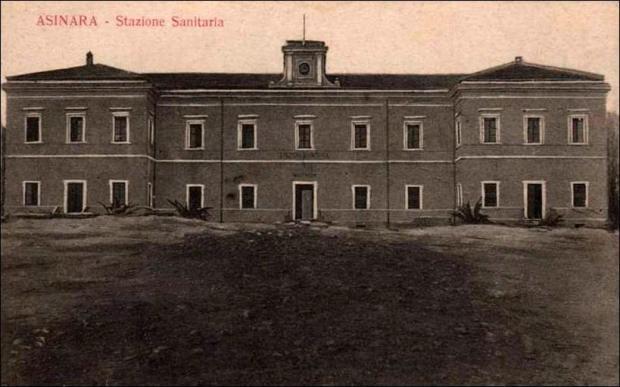 Stazione Sanitaria Edificio per l'Amm.ne, per l'alloggio del personale addetto alla Stazione e Sede del Comando del Presidio.