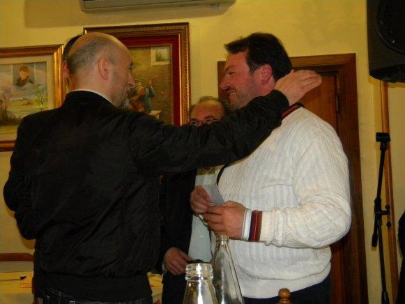 Di Varano ed il sindaco di Montorio Alessandro Di Giambattista