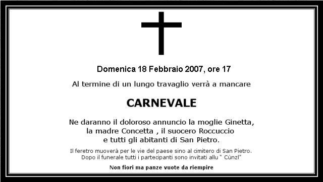 Funerale di Carnevale