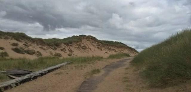 Balmedie Country Park walk way beach