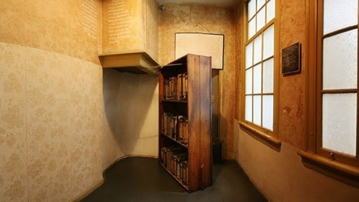 Anne Frank House secret door way
