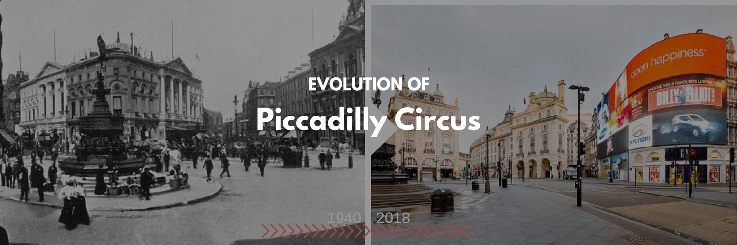 Evolution of London Piccadilly Circus