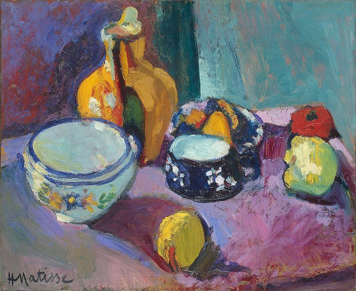 Matisse dishes and fruit