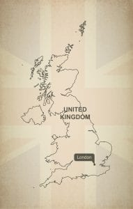 United Kingdom Map with Capital City