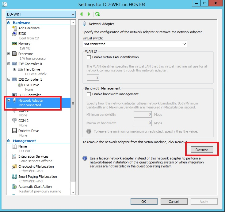 How to setup a virtual DD-WRT Router with Hyper-V – A Geeks World