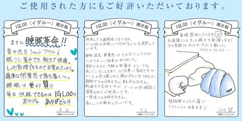 IGLOO(イグルー)賞賛の嵐