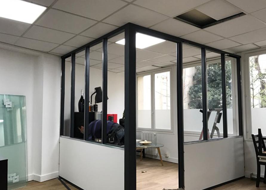 cloison bureau style atelier