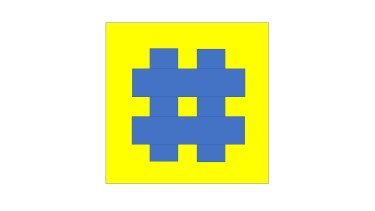 blue hash mark