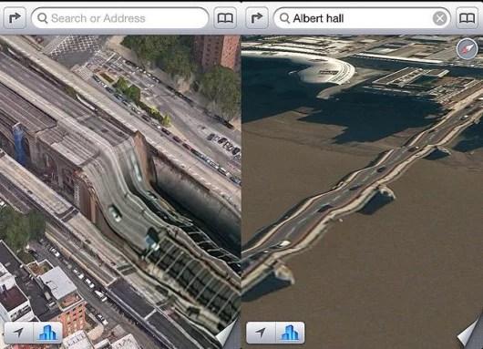 Mappe su iOS 6 presenta molti bug