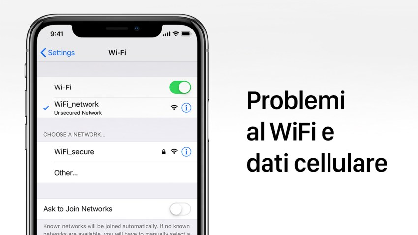 problemi iphone wifi