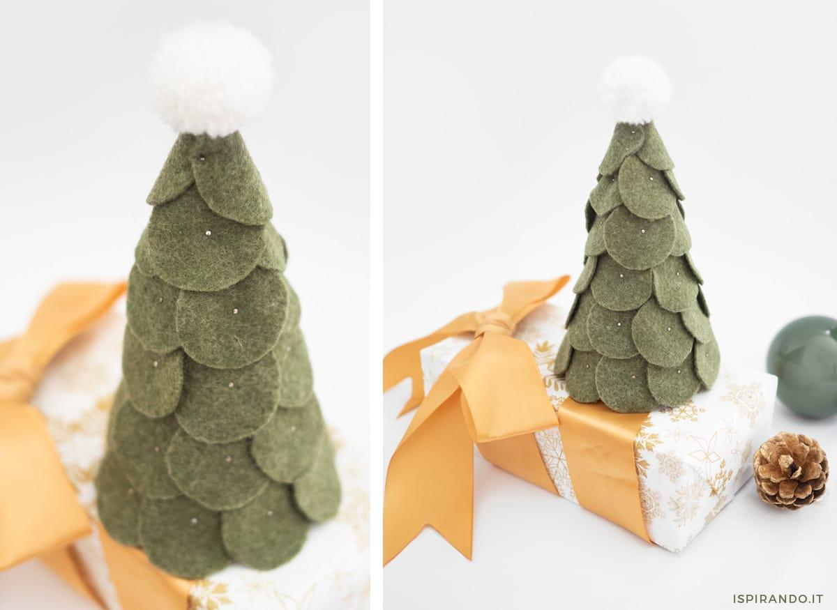 Non solo le classiche palline per l'albero. Creare Un Alberello Di Natale In Pannolenci Ispirando