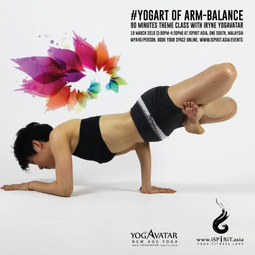Yogurt Of Arm Balance with iRyne Yogavatar poster v3