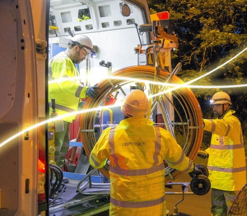 fibre optic night cable openreach
