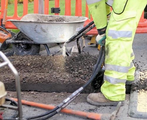 community fibre trench dig