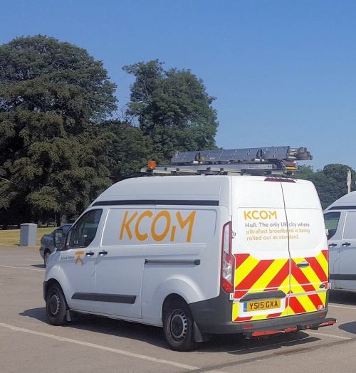 kcom van in car park