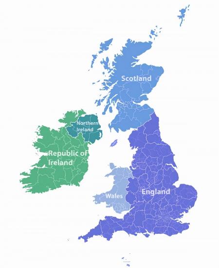 uk map england scotland wales northern ireland