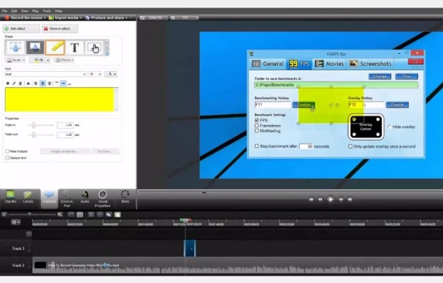 Éditeur vidéo de Camtasia Studio