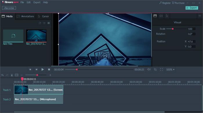 Filmora Scrn ekran kaydedici