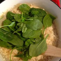 Step 7: Add spinach