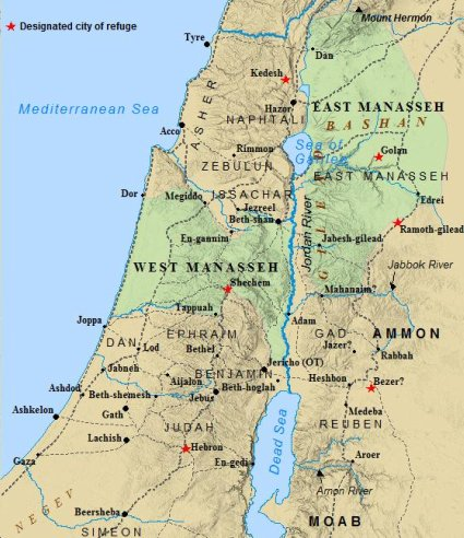 Image result for map banks of jordan river