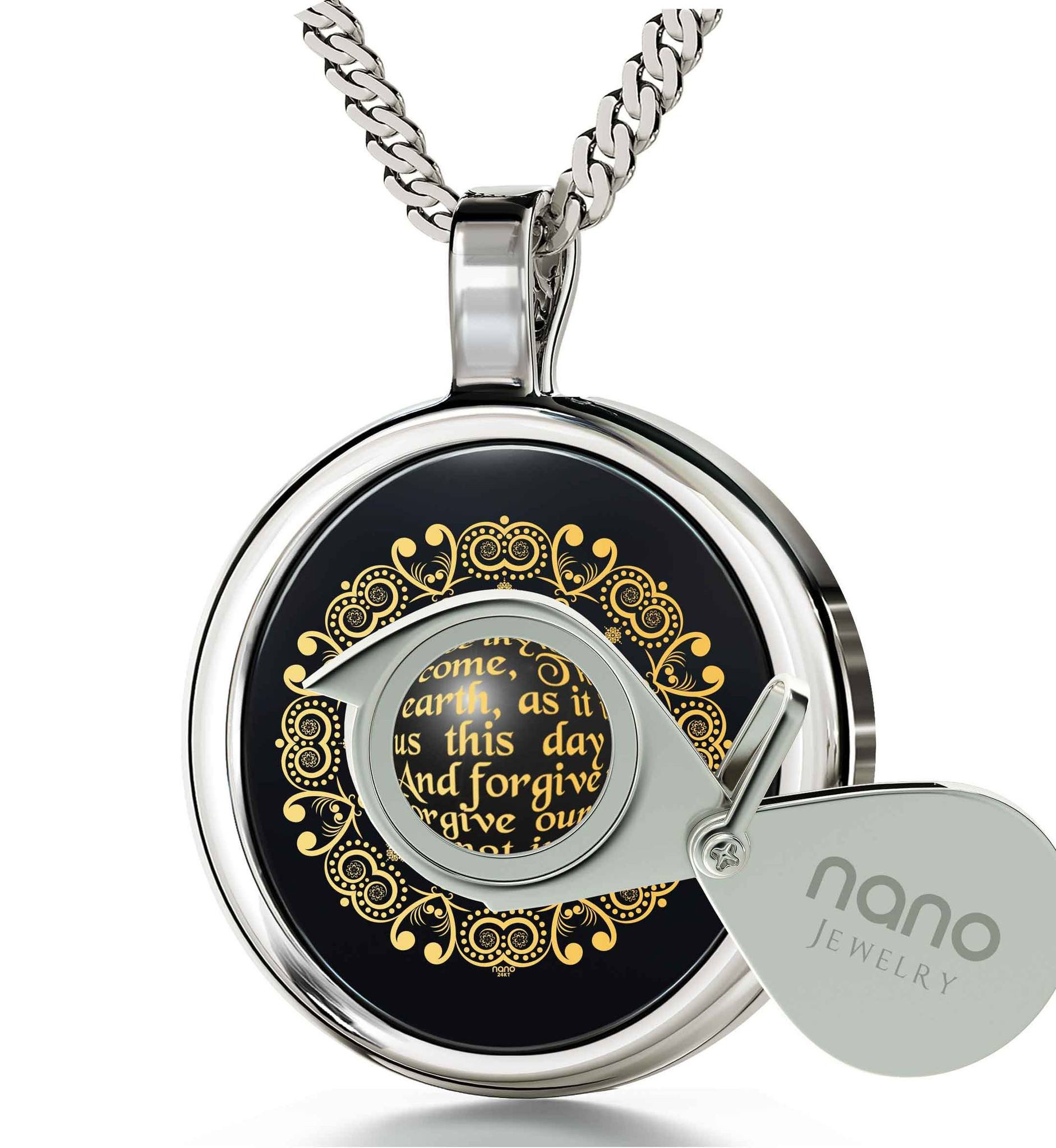 Buy The Lord S Prayer On Onyx And 14k White Gold Frame
