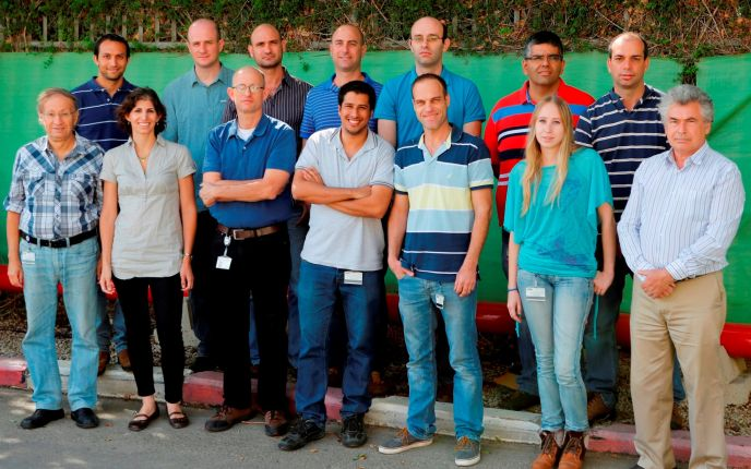 The BrightWay Vision crew, including principals Ofer David (bottom, third from the left), Yoav Grauer (top, fourth from the left) and Eyal Levi (top, far right).