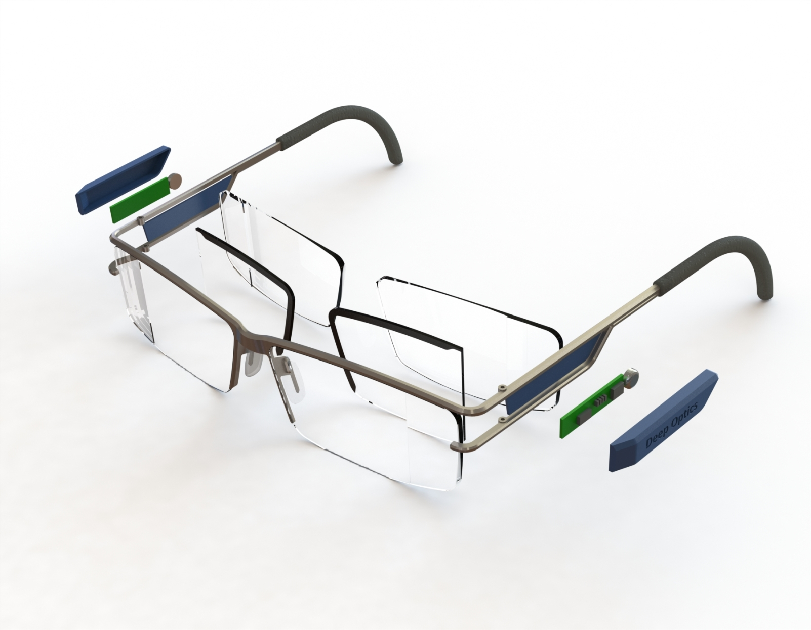 A liquid crystal layer adjusts Omnifocals to provide a full field of vision at all times. Photo: courtesy