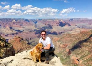 Tiaki and I at the Grand Canyon in 2016