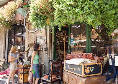Antique shop at the flea market in Jaffa