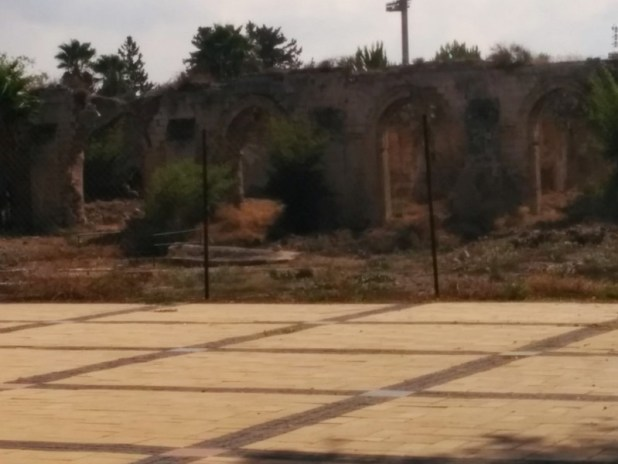 Remains of Saladin's White Mosque and aquaduct from Gezer to underground pool