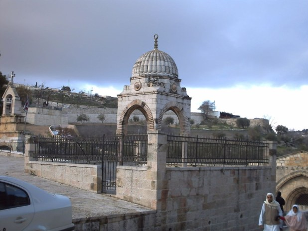 Outside view of the Tomb of Mary and the tomb of Mujir ad-Din - http://www.wikiwand.com/en/Tomb_of_the_Virgin_Mary