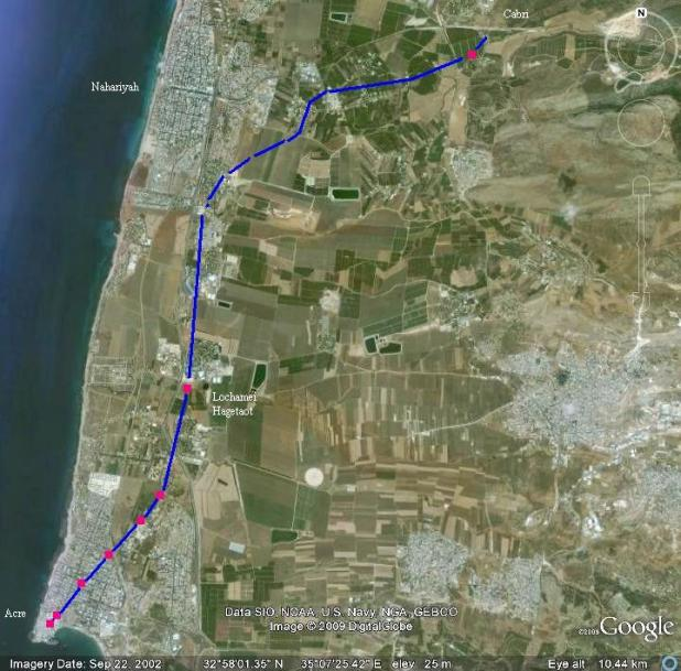 Acre Aqueduct Map