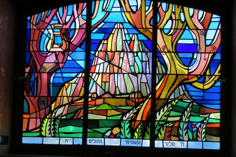 Side stained glass windows