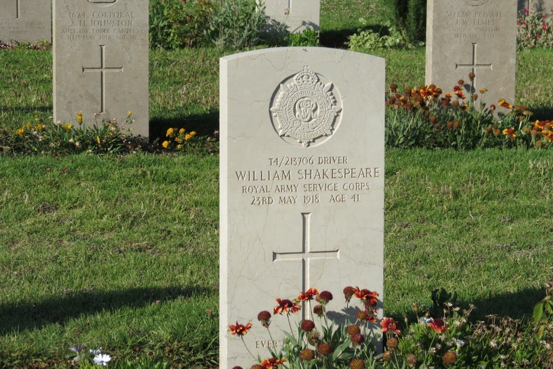 William Shakespeare - British War Cemetery Jerusalem