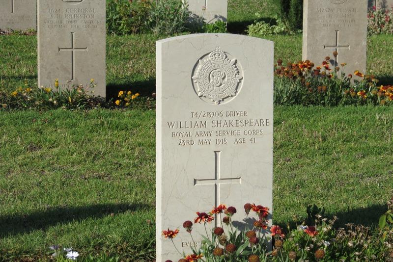 William Shakespeare - British War Cemetery Jerusalem
