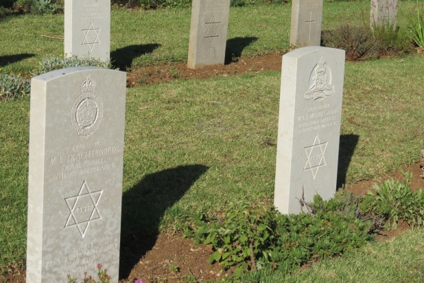 The Jewish Section of the British Military Cemetery in Jerusalem
