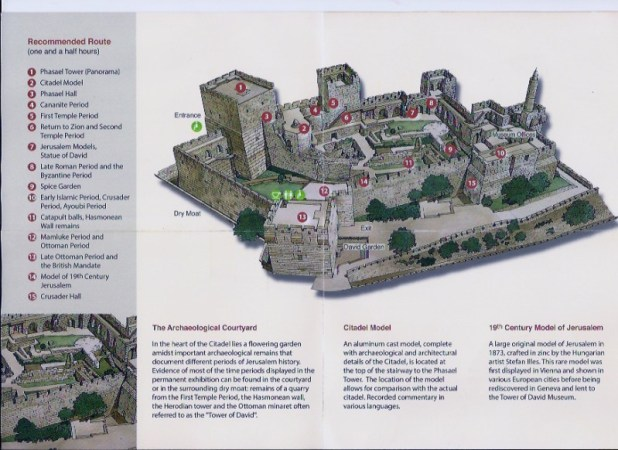 Recommended Self-tour route - http://www.tod.org.il/en/citadel/citadel-map/