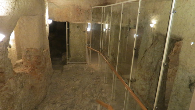 Church of Saint Peter in Gallicantu - the sacred pit, where Jesus was believed to be held in custody, as well as Peter and John after his resurrection (as per Acts 5).  - Prison