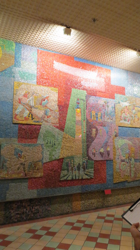 Nahum Gutman's Mosaic Wall- famous streetlight