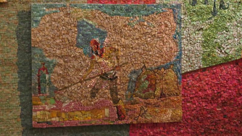 Nahum Gutman's Mosaic Wall - agriculture