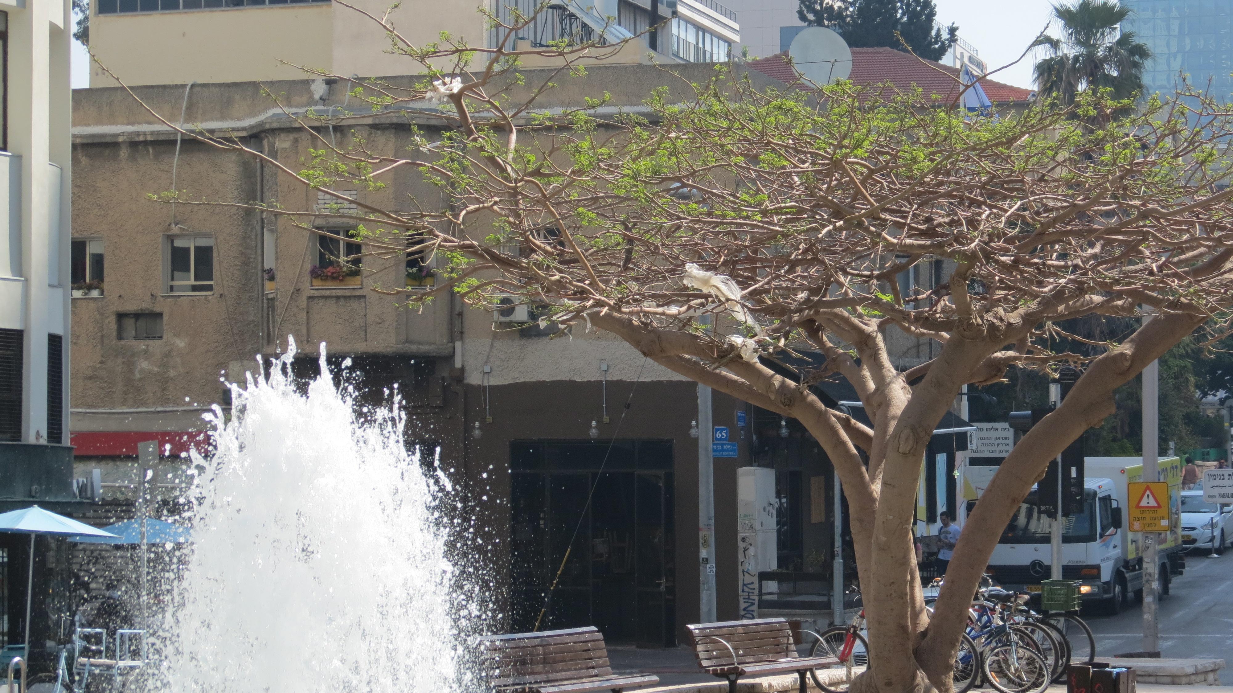Rothschild Boulevard -Tel Aviv Founders' Monument and Fountain